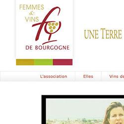 site web pour l'association Femmes et vins de Bourgogne