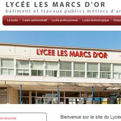 Site Internet du Lycée des Marcs d'Or