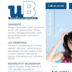 Nouveau site Internet pour l'uB