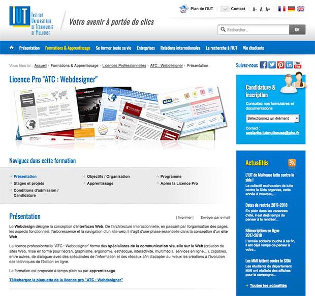licence pro webdesigner mulhouse