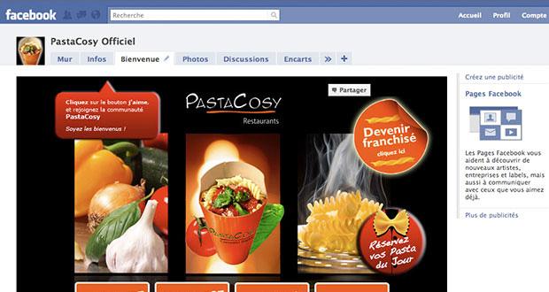 PastaCosy sur facebook