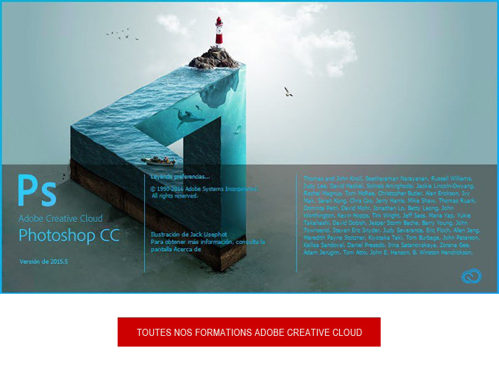 formation adobe photoshop creative cloud