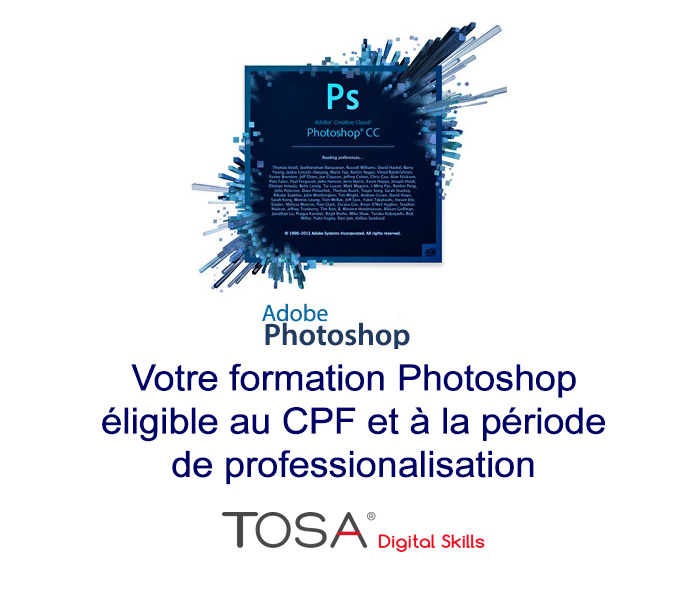 Certification Tosa pour Photoshop